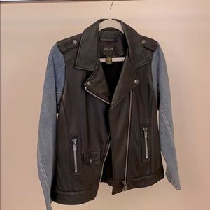 AS by DF Washable leather biker jacket